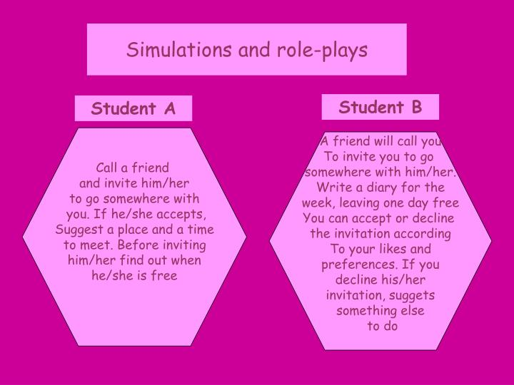 Simulations and role-plays