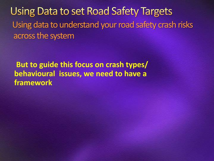 Using Data to set Road Safety Targets