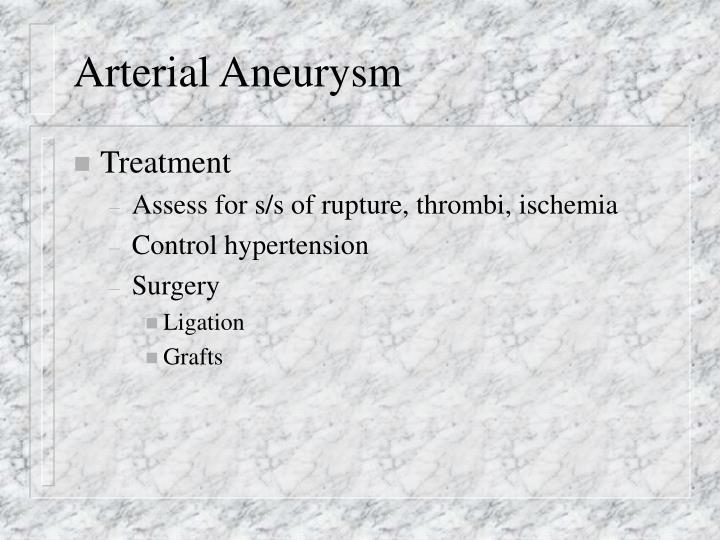 Arterial Aneurysm