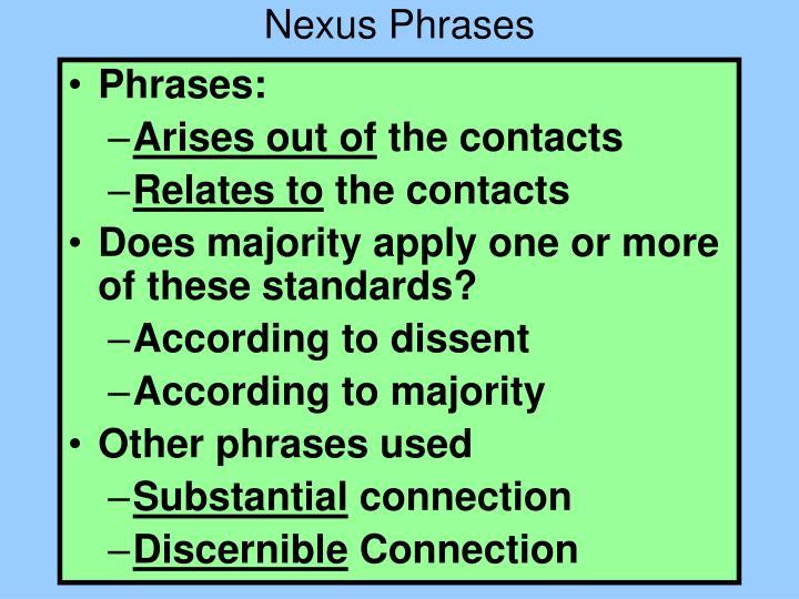 Nexus Phrases