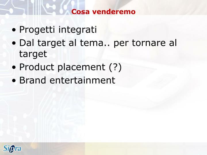 Progetti integrati