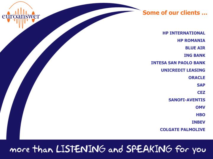 Some of our clients …