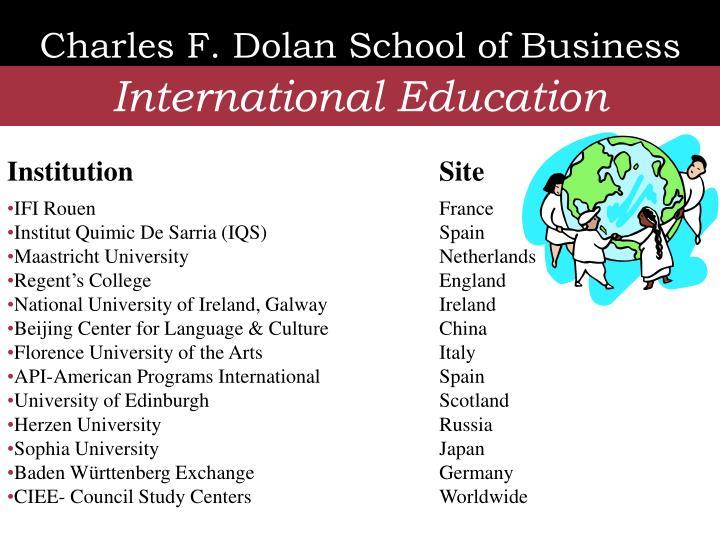Charles F. Dolan School of Business