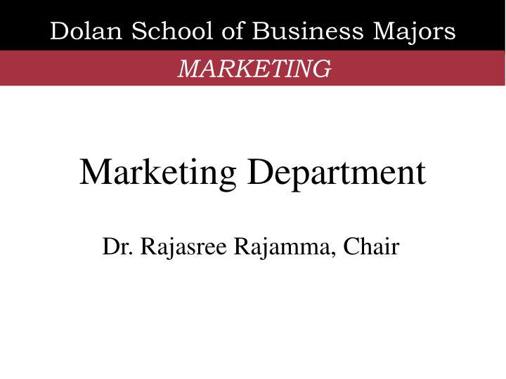 Dolan School of Business Majors