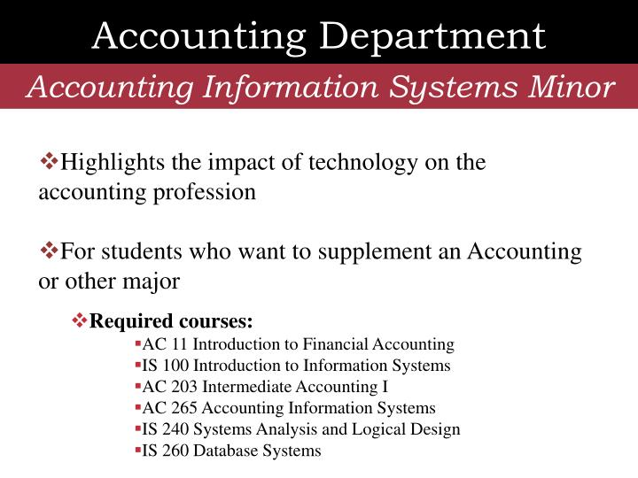 Accounting Department