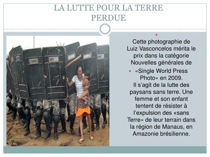 Cette photographie de Luiz Vasconcelos mérita le prix dans la catégorie Nouvelles générales de
