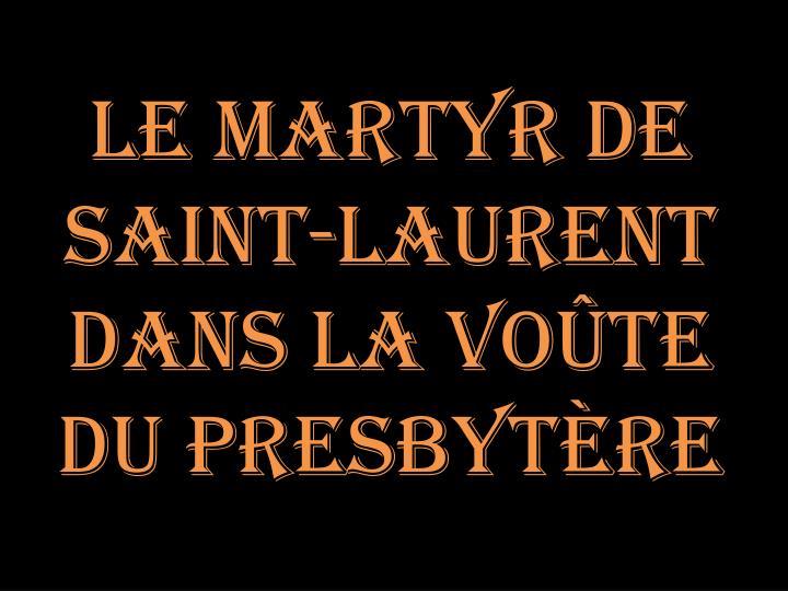 Le martyr de