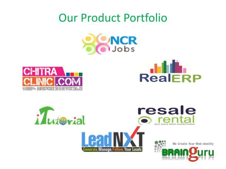 Our Product Portfolio
