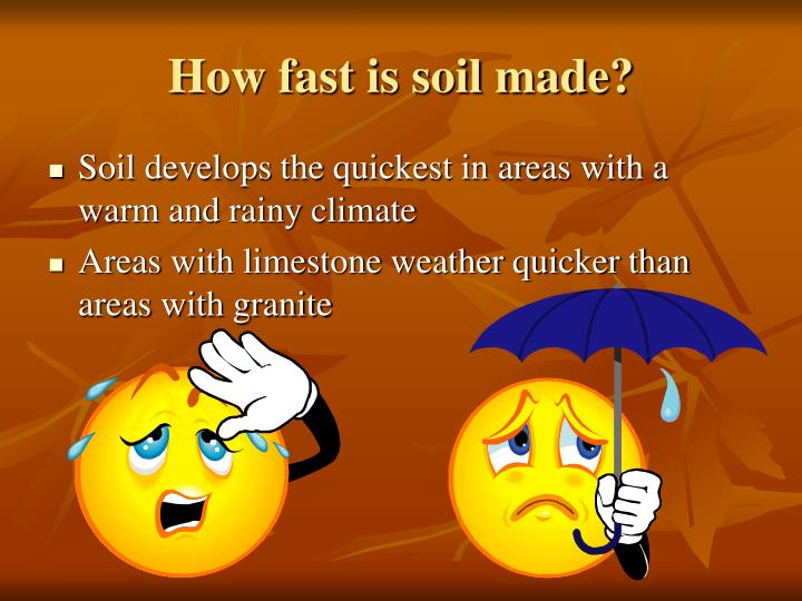 How fast is soil made?