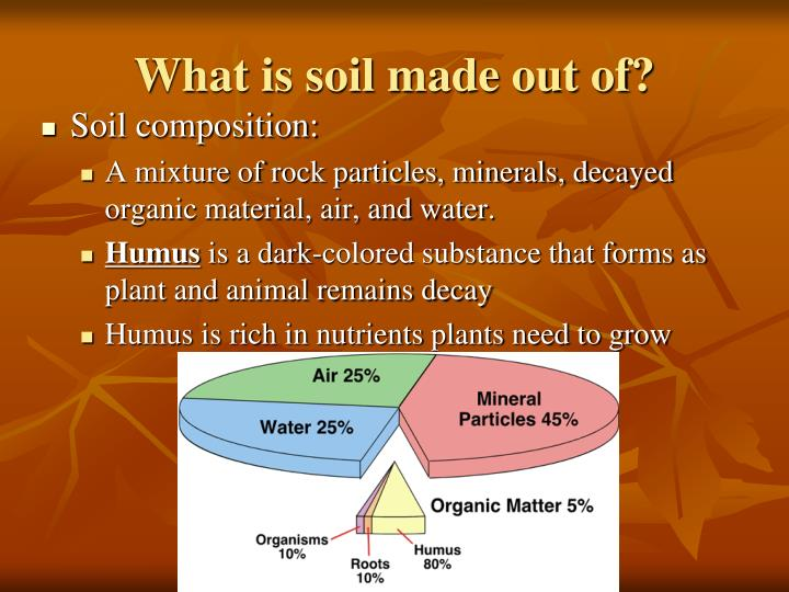 What is soil made out of?