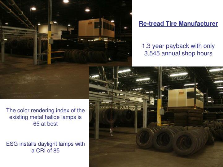 Re-tread Tire Manufacturer