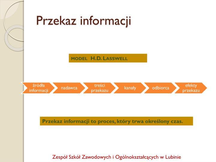 Przekaz informacji