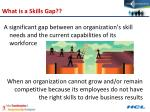 what is a skills gap