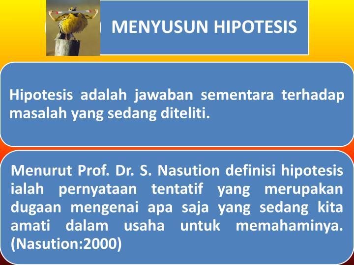 Materi kuliah 6 hipotesis