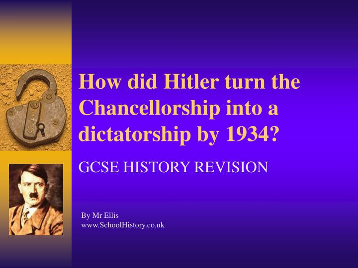 'hitler had established a dictatorship by Hitler had avoided the mistakes he had made ten years previously: he had achieved office constitutionally with the support of the conservative establishment and the army, not tried to do so by force of arms against their opposition.