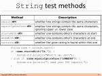 string test methods