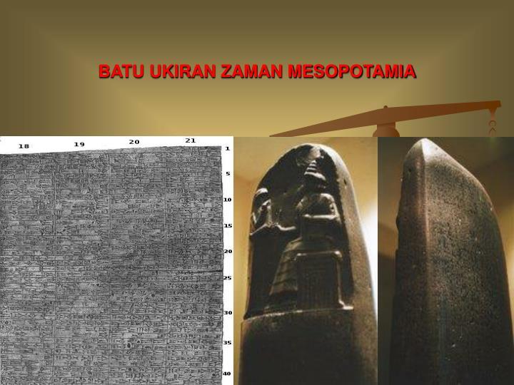 BATU UKIRAN ZAMAN MESOPOTAMIA