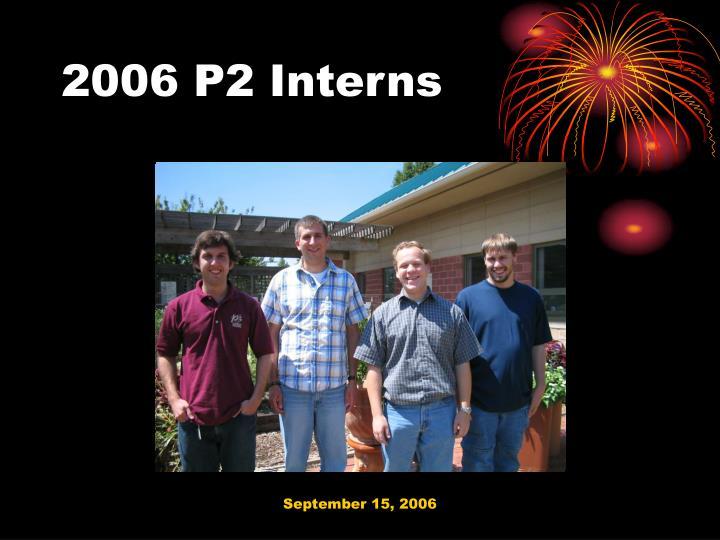 2006 P2 Interns