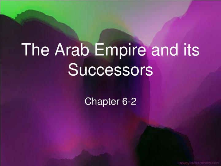 the arab empire and its successors n.
