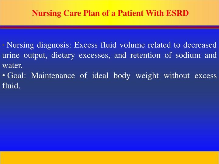 Nursing Care Plan of a Patient With ESRD