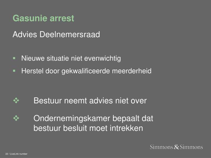 Gasunie arrest