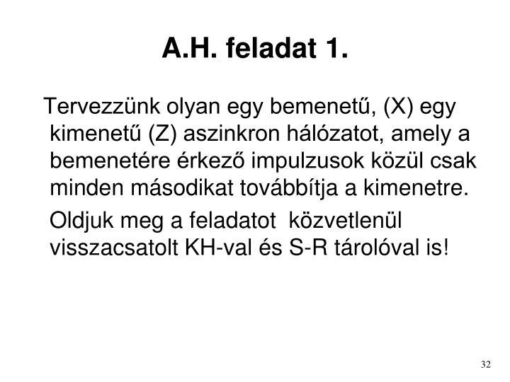 A.H. feladat 1.