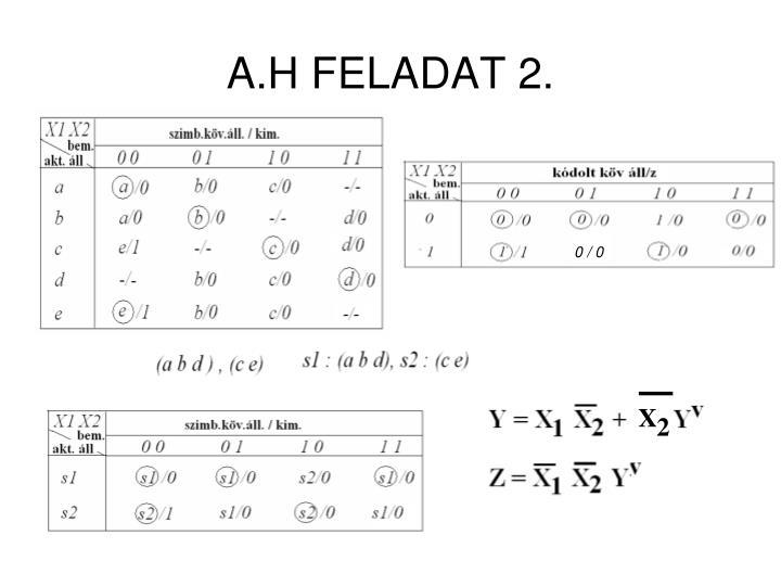 A.H FELADAT 2.