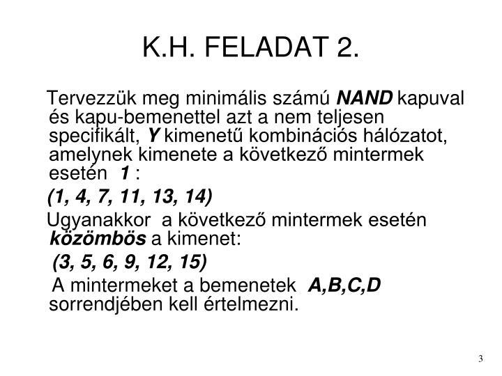 K h feladat 2