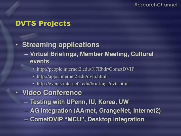 DVTS Projects