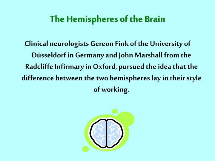 The Hemispheres of the Brain