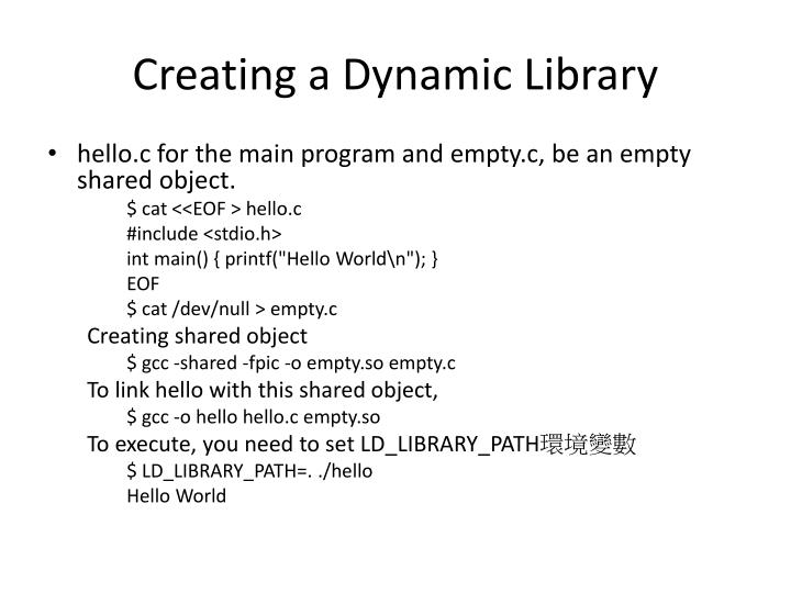 Creating a Dynamic Library