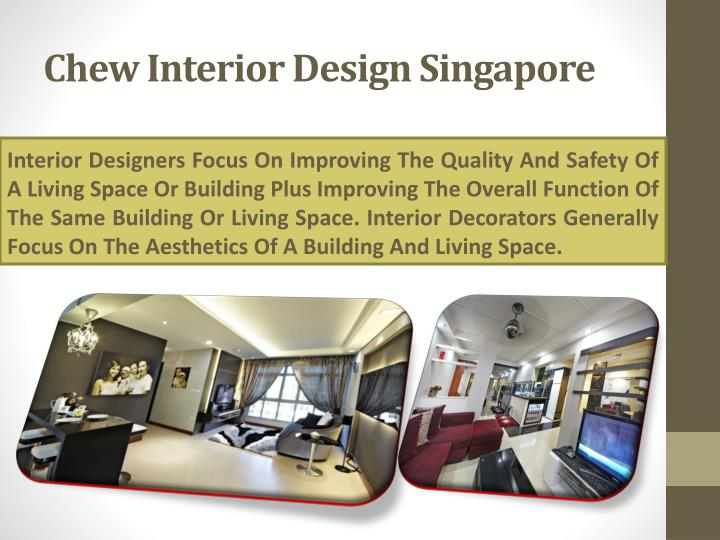 Chew interior design singapore