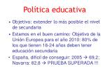 pol tica educativa