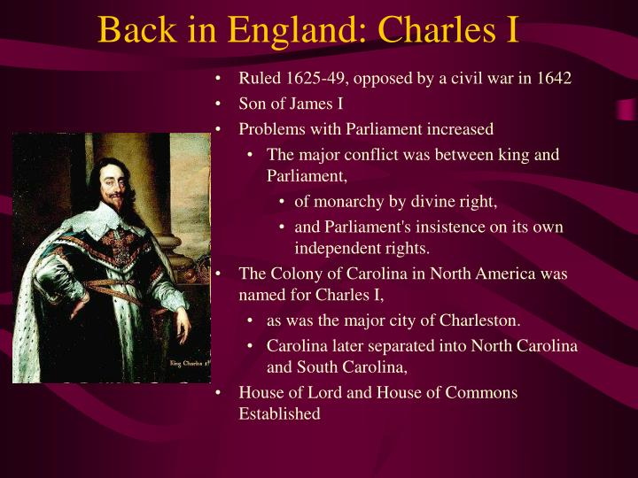Back in England: Charles I