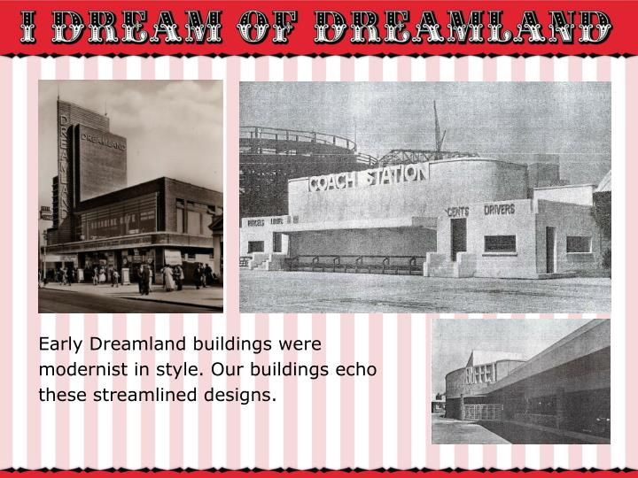 Early Dreamland buildings were
