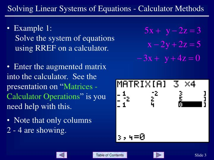 solving systems of linear equations using matrices pdf