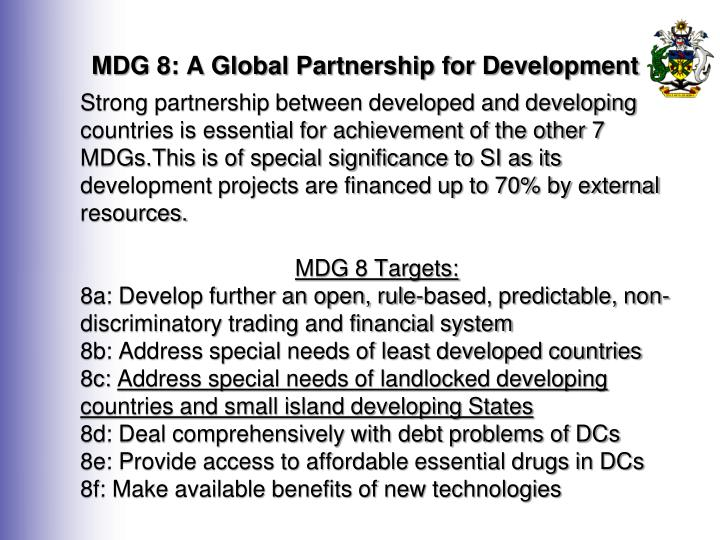 Mdg 8 a global partnership for development