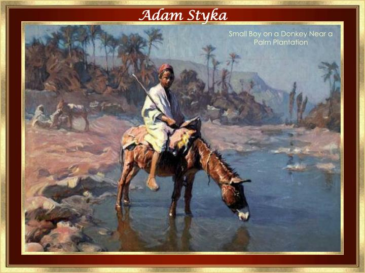 Small Boy on a Donkey Near a