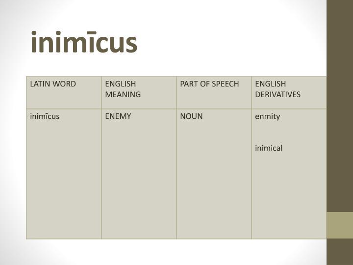 inimīcus