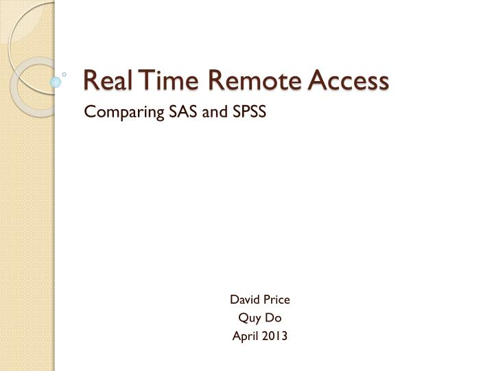 real time remote access