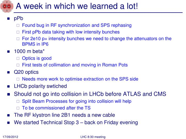 A week in which we learned a
