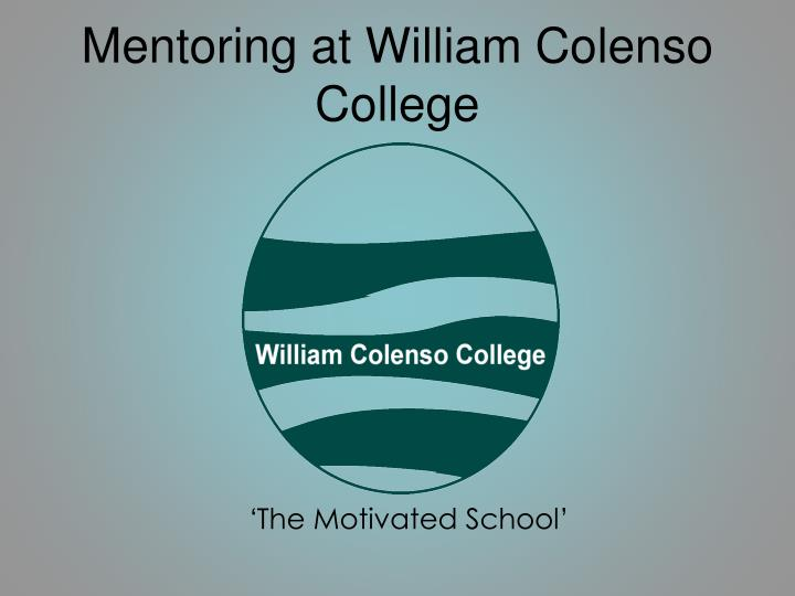 mentoring at william colenso college n.