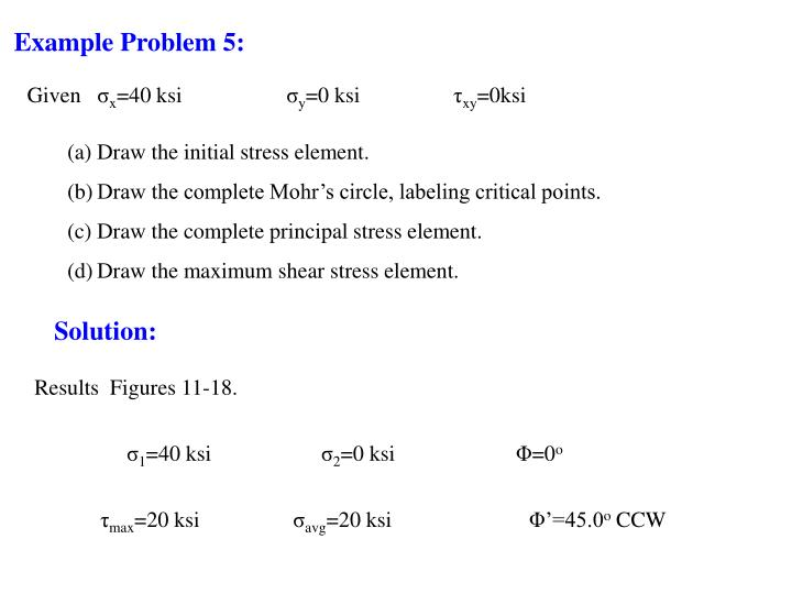 Example Problem 5: