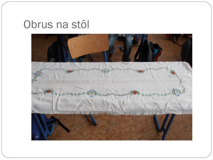 Obrus na stôl