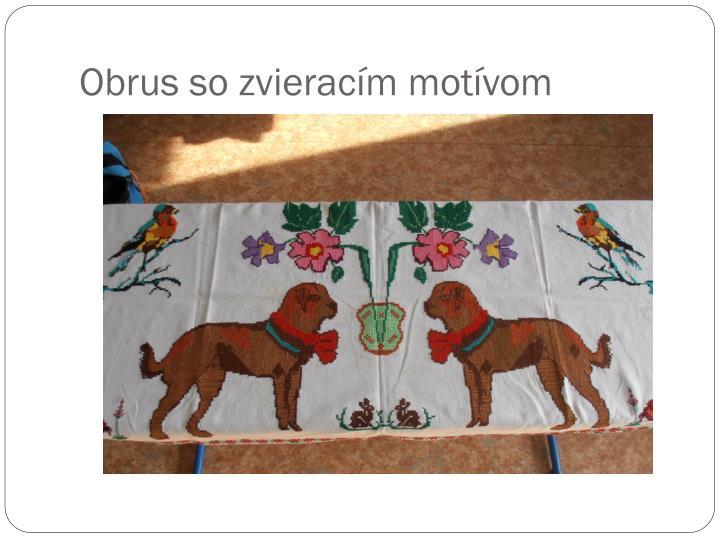 Obrus so zvieracím motívom