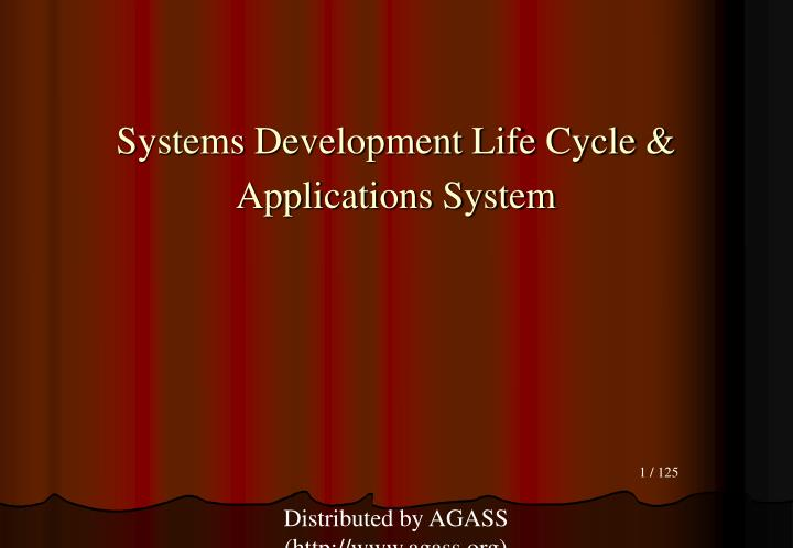 systems development life cycle applications system n.
