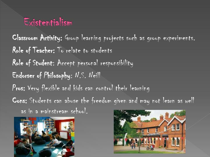 role of teacher in existentialism