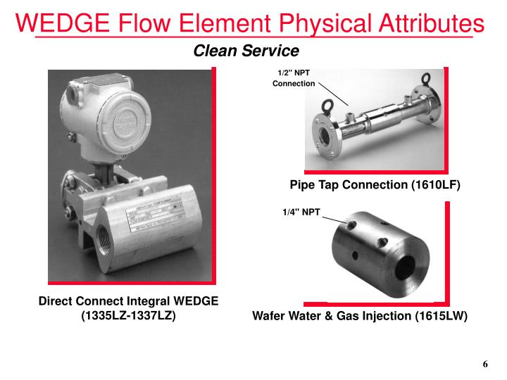 WEDGE Flow Element Physical Attributes