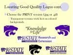 locating good quality logos cont1