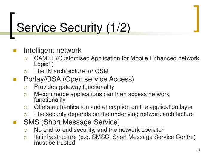 Service Security (1/2)